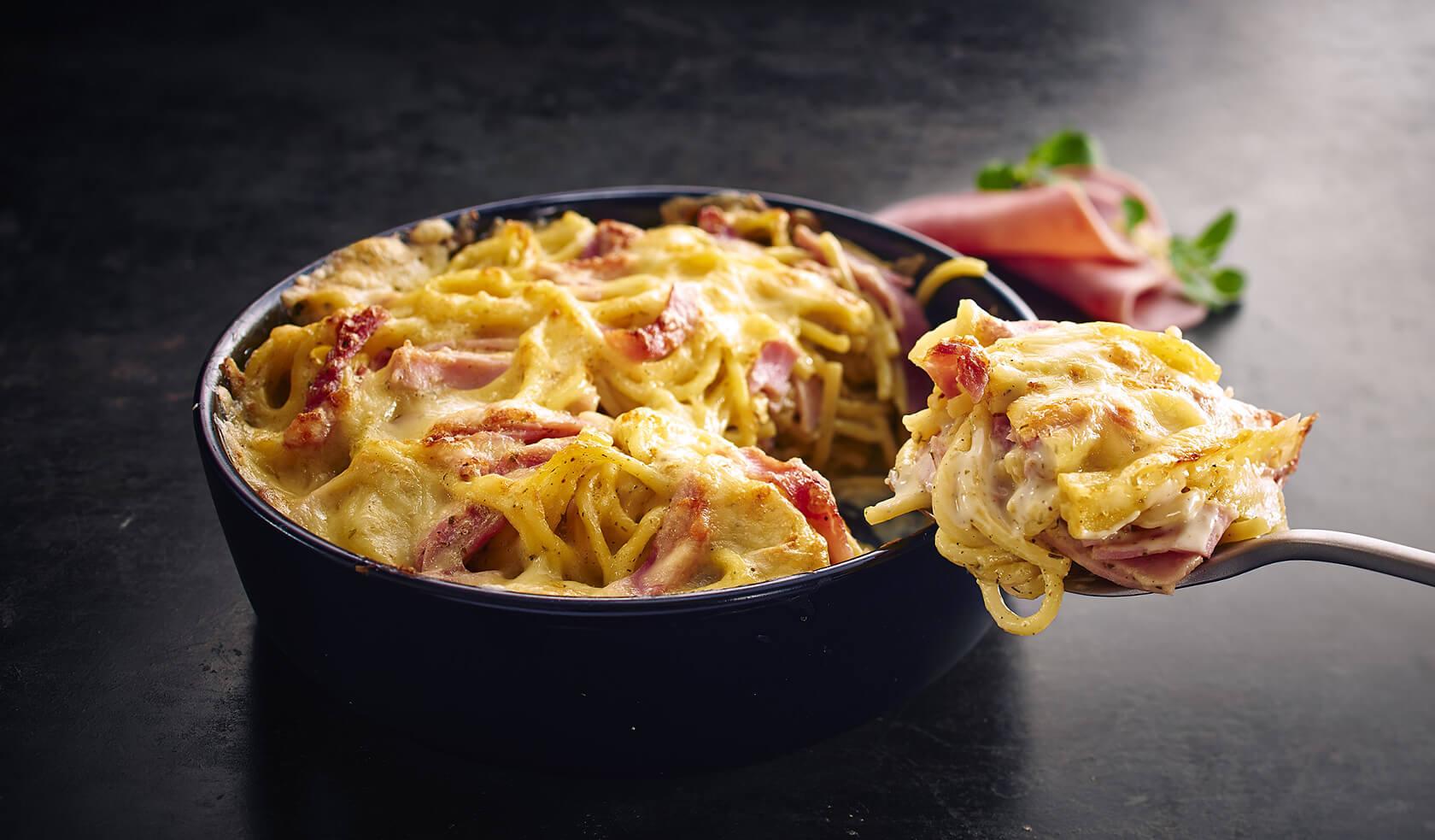 Spaghetti Schinken-Sahne