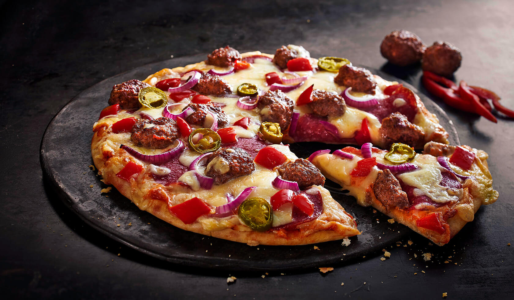 Pizza Spicy Meat & Greet