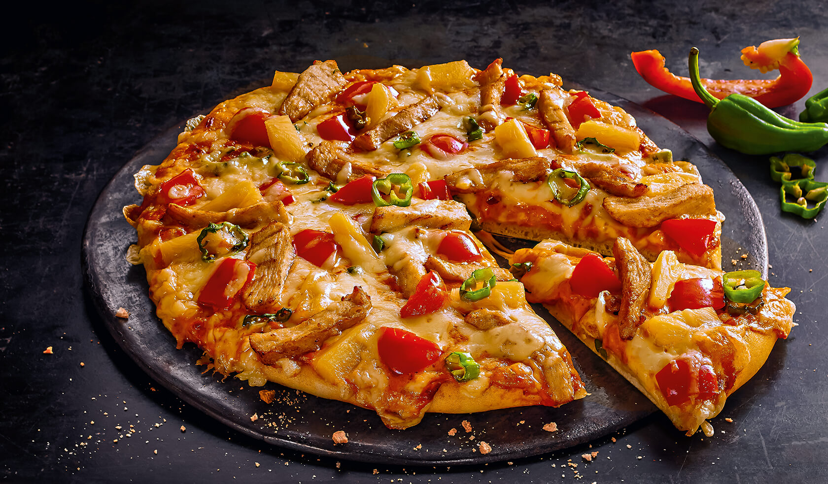 Pizza Hot Curry Chicken