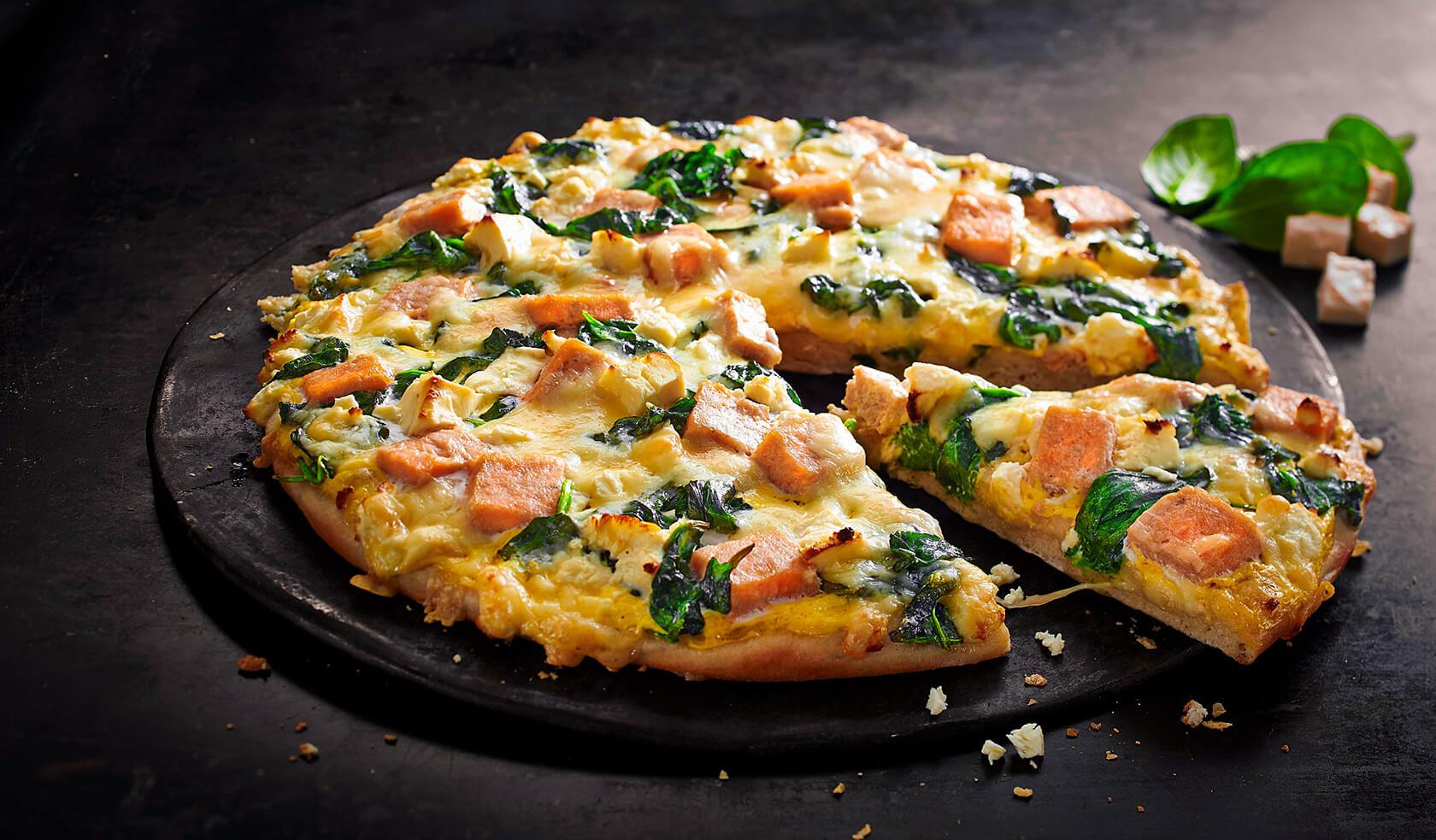 Pizza Lachs Gourmet