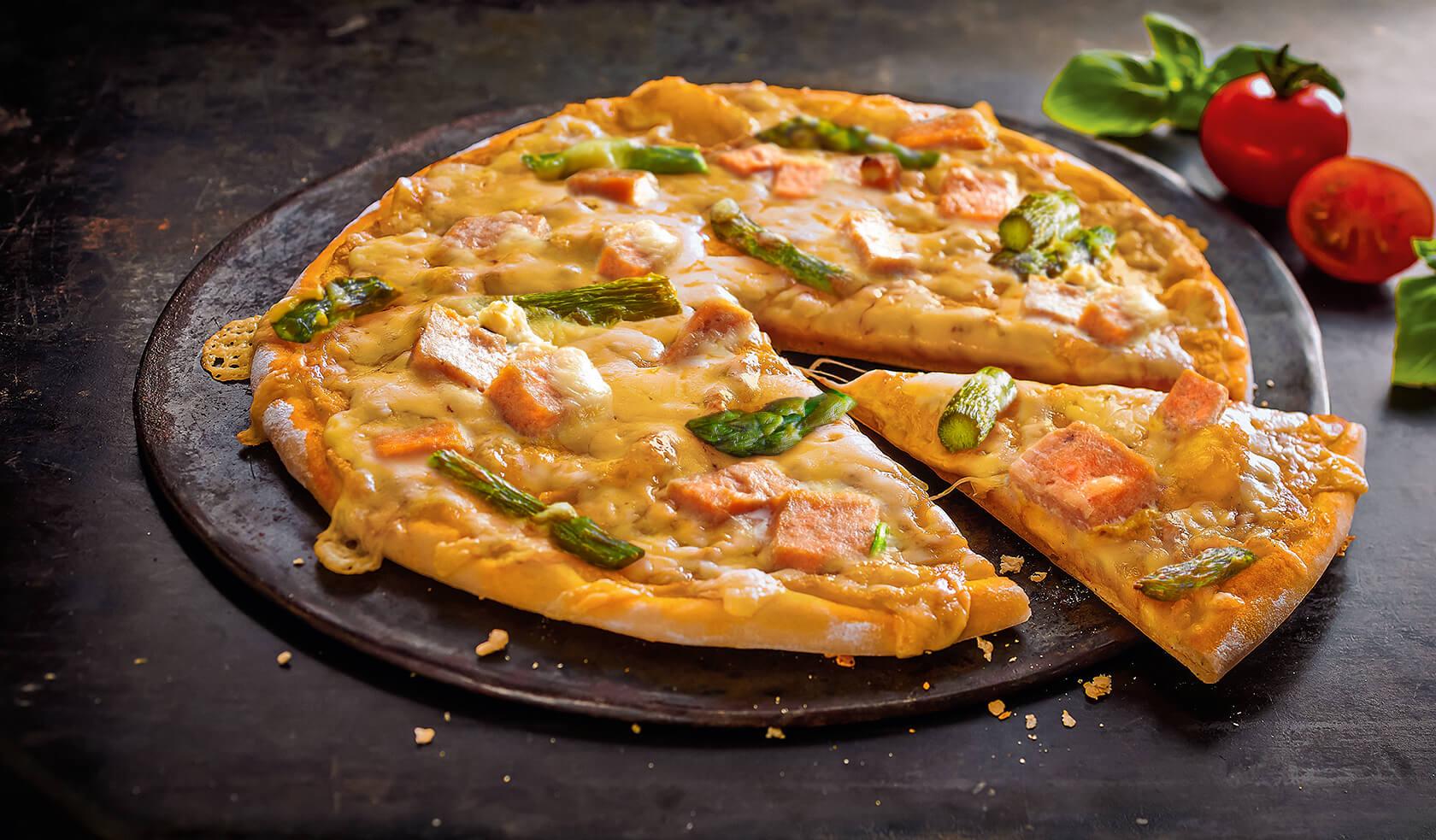Pizza Lachs Spargel