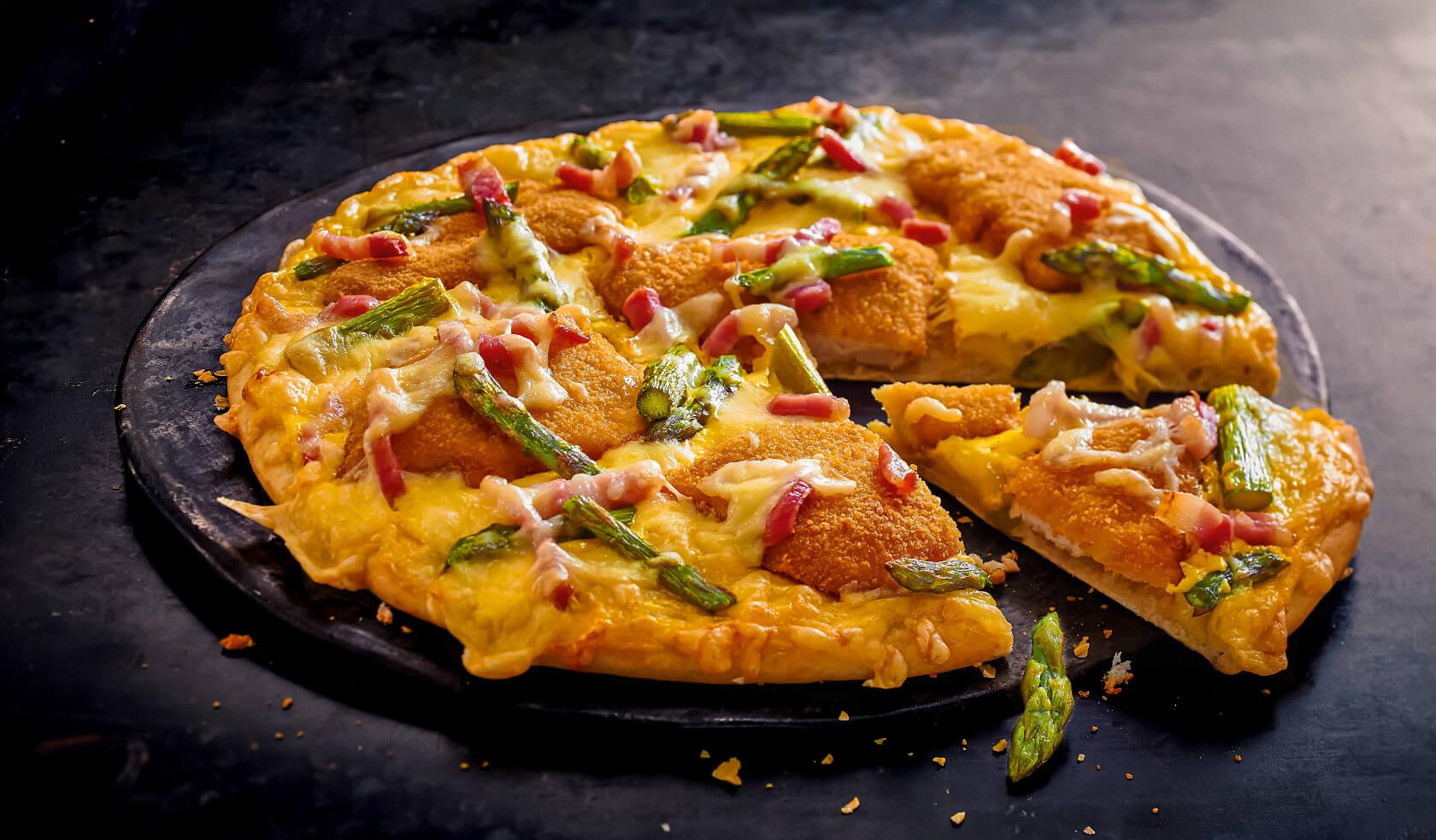 Pizza Schnitzel Spargel