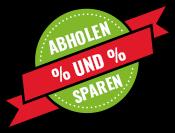 Abholen und sparen